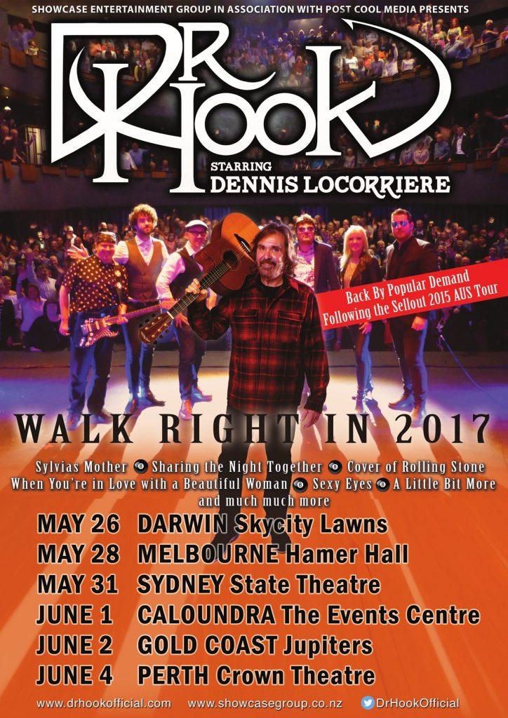 Dr Hook Starring Dennis Locorriere | Australia | 2017