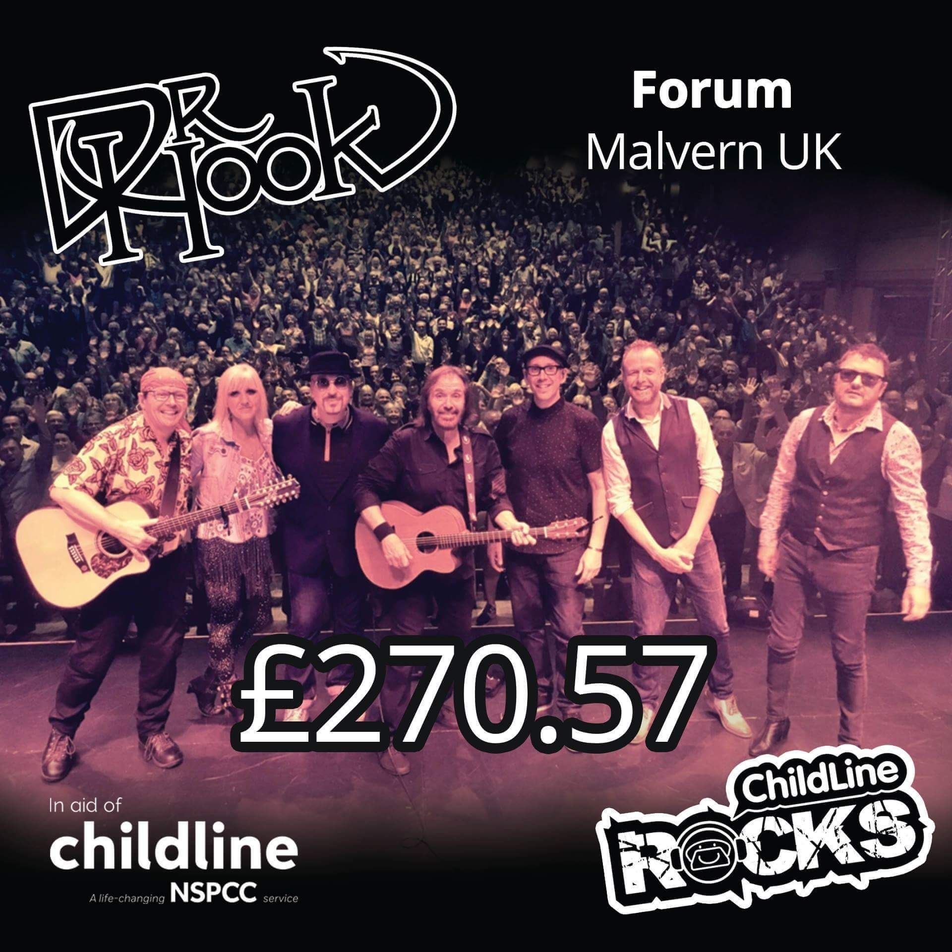 Dr Hook - Fundraising 2017 - Childline NSPCC - Malvern UK